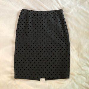 WHBM Polka dot pencil skirt